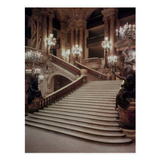 The Grand Staircase of the Opera-Garnier Postcard