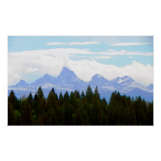The Grand Tetons Softened Print