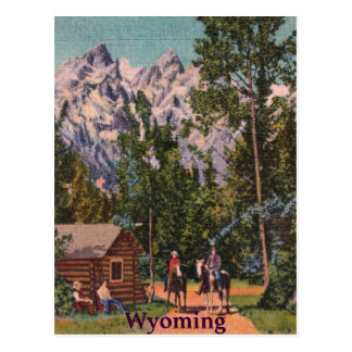 The Grand Tetons - Wyoming Postcard