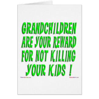The Grandparent Reward Greeting Card