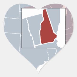 The Granite State Heart Sticker