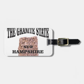 The granite state NH Luggage Tag