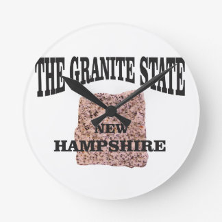 The granite state NH Round Clock