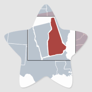 The Granite State Star Sticker