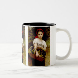 The Grape Picker Two-Tone Coffee Mug