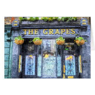 The Grapes Pub London Art Card