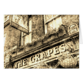 The Grapes Pub London Vintage Card