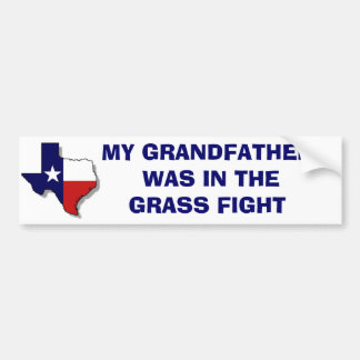 THE GRASS FIGHT BUMPER STICKER