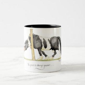 'The grass is always greener...' Mug. Two-Tone Coffee Mug