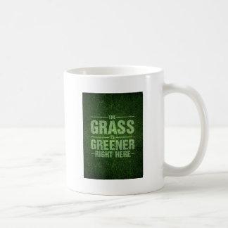 The Grass Is Greener Basic White Mug
