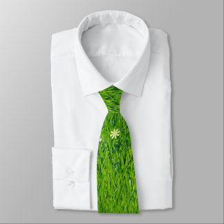 The grass is greener men's tie