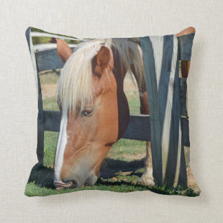 The Grass Is Greener On The Other Side Horse Cushion