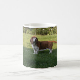 THE GRASS IS GREENER WITH A BASSET HOUND MUG