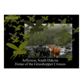 The Grasshopper Crosses Poster Cattle scene