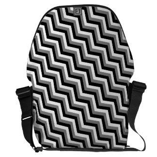 THE GRAY AREA (a zig zag design) ~ Messenger Bag