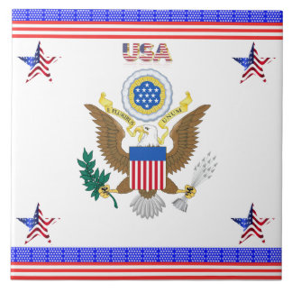 The Greal seal of the United States Ceramic Tile