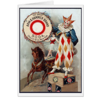 The great Arm & Hammer brand soda, c. 1900 Card
