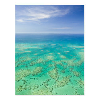 The Great Barrier Reef, aerial view of Green Postcard