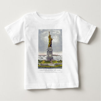 The Great Bartholdi Statue of Liberty Currie Ives Baby T-Shirt