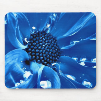 The great blue flower mouse pad