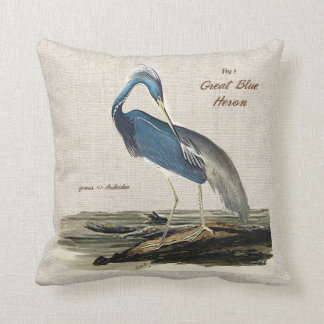 The Great Blue Heron - Cotton Cushion