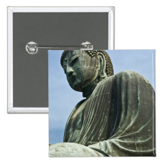The Great Buddha of Kamakura also known as 15 Cm Square Badge