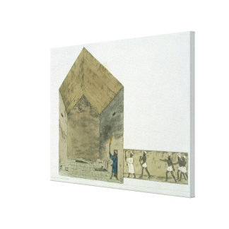The Great Chamber in the second pyramid of Ghizeh, Canvas Print