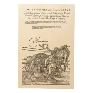 The great chariot in honor of Emperor 1519 Wood Prints