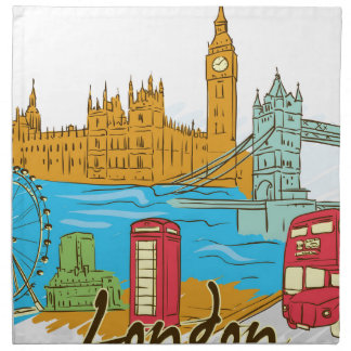 The Great City Of Lodon Napkin