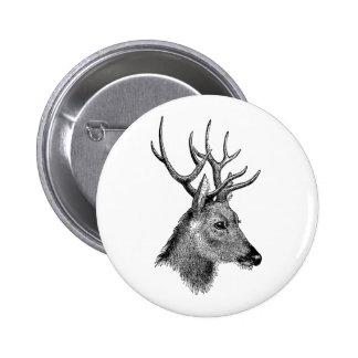 The great deer buck 6 cm round badge