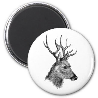 The great deer buck 6 cm round magnet