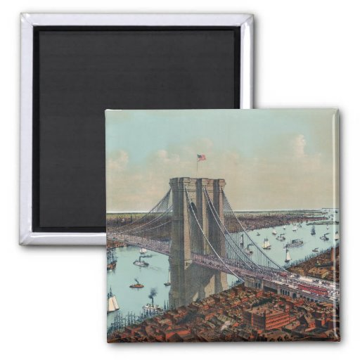 The Great East River Suspension Bridge Refrigerator Magnet