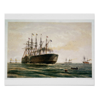 The Great Eastern under way, July 23rd, 1865, from Poster