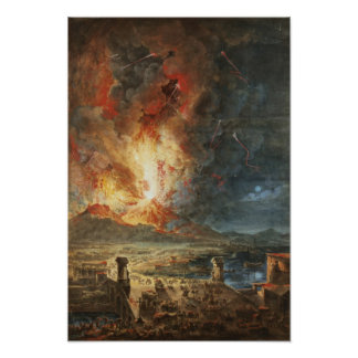 The Great Eruption of Mt. Vesuvius Poster