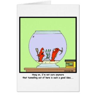 The Great Escape: Goldfish cartoon Card