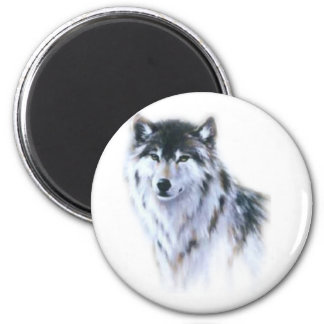 The great fierce wolf in all glory 6 cm round magnet