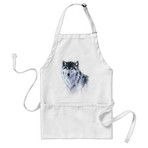 The great fierce wolf in all glory apron