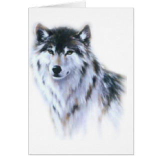 The great fierce wolf in all glory card