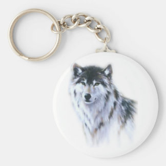 The great fierce wolf in all glory basic round button key ring