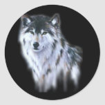 The great fierce wolf in all glory round stickers