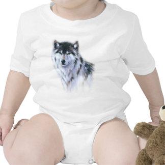 The great fierce wolf in all glory romper