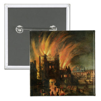 The Great Fire of London (September 1666) with Lud 15 Cm Square Badge