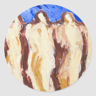 The Great Greek Philosophers(abstract  painting) Stickers