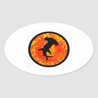 THE GREAT HAMMERHEAD OVAL STICKER