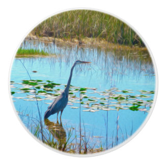 The Great Heron - Ceramic Knobs