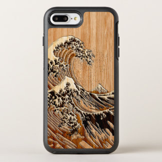 The Great Hokusai Wave Bamboo Wood Inlay Style OtterBox Symmetry iPhone 7 Plus Case
