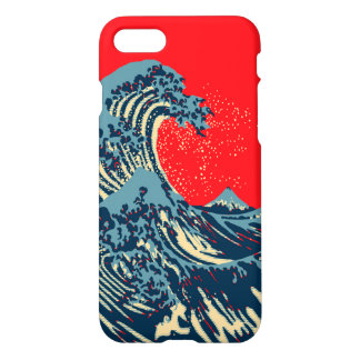 The Great Hokusai Wave in Hope Art Style iPhone 7 Case