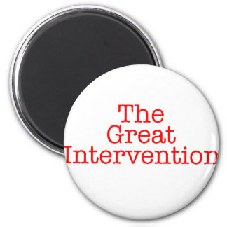 The Great Intervention 6 Cm Round Magnet