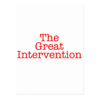 The Great Intervention Postcard