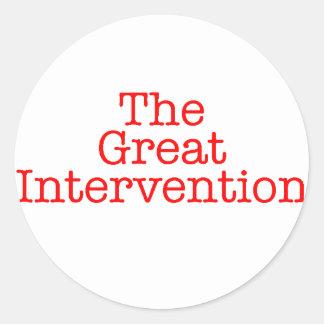 The Great Intervention Round Sticker